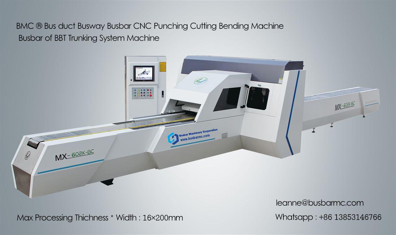 Mx602k 8c Cnc Busbar Punching Shearing Machine Busbar